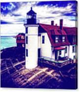 Point Betsie On Lake Michigan Canvas Print