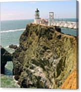 Point Bonita Lighthouse In Marin County California Canvas Print