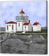 Point No Point Lighthouse Canvas Print