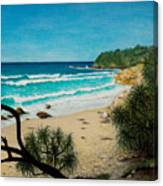 Point Perry Coolum Beach Canvas Print