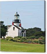 Point Pinos Light - Lighthouse On The Golf Course - Pacific Grove Monterey Central Ca Canvas Print