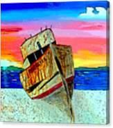 Point Reyes Wreck D2 Canvas Print