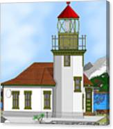 Point Robinson On Vashon Island Canvas Print