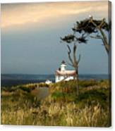 Point Wilson Lighthouse Puget Sound Watercolor Canvas Print
