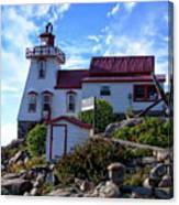 Pointe Au Baril Lighthouse Canvas Print