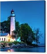 Pointe Aux Barques Lighthouse At Dawn Canvas Print