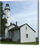 Pointe Aux Barques Lighthouse Canvas Print