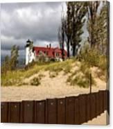 Pointe Betsie Lighthouse Canvas Print
