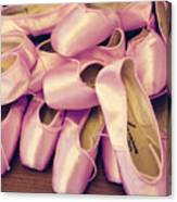 Pointe Shoes Canvas Print