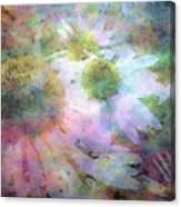 Pointillism Coneflowers 3571 Idp_3 Canvas Print