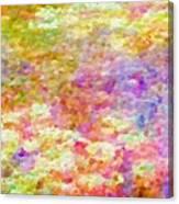 Pointillist Colour Canvas Print