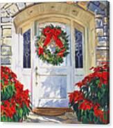 Pointsettia House Canvas Print