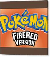 Pokemon Fire Red Emulator Canvas Print