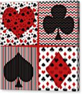 Poker In Four Canvas Print