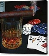 Poker Night Canvas Print