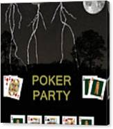 Poker Party  Poker Cards Canvas Print
