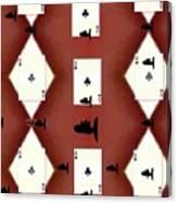 Poker Sharks Canvas Print