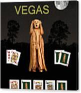 Poker Vegas Scream Canvas Print