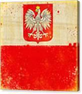 Poland Flag Canvas Print