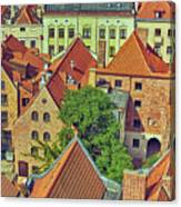 Poland, Torun, Houses. Canvas Print
