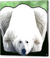 Polar Bear - Green Canvas Print
