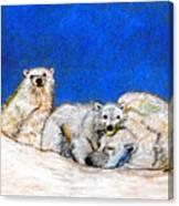 Polar Bears With Love Canvas Print