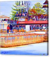 Polar Dip Crowd  Canvas Print