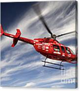 Polar First Helicopter Canvas Print