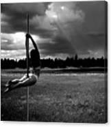 Pole Dance Storm 1 Canvas Print