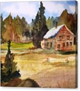 Polebridge Mt Cabin Canvas Print