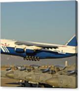 Polet Antonov An-124 Ra-82080 Taking Off Phoenix-mesa Gateway Airport January 15 2011 Canvas Print