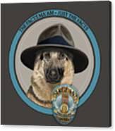 Police Dog Canvas Print