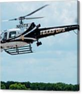 Police Helicopter Taking Off Canvas Print