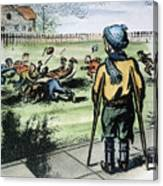 Polio Cartoon, 1957 Canvas Print