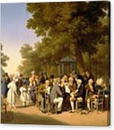 Politicians In The Tuileries Gardens Canvas Print