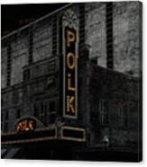 Polk Movie House Canvas Print