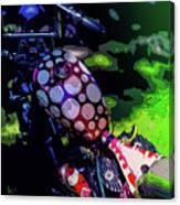 Polka Dot Bike Canvas Print