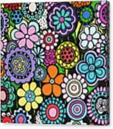 Polka Dot Bouquet Canvas Print