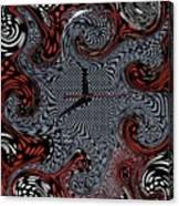 Polka Dot Time Canvas Print