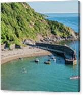Polkerris Beach And Harbour Canvas Print