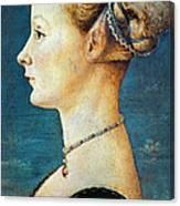 Pollaiuolo: Young Woman Canvas Print