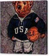 Polo Bear Sport Canvas Print