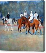 Polo Horses Painting Canvas Print