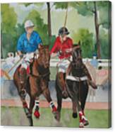 Polo In The Afternoon 2 Canvas Print