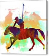 Polo Player Canvas Print