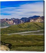 Polychrome Pass Area Denali National Park Four Canvas Print