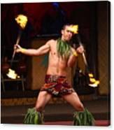 Polynesian Fire Dancing Canvas Print