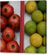Pomegranate And Sweet Lime Canvas Print