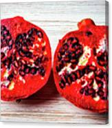 Pomegranate Cut In Half Canvas Print
