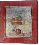 Pompeii Pomegranate Still Life Fresco 1 Canvas Print